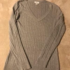 Ann Taylor LOFT Grey Knit Sweater